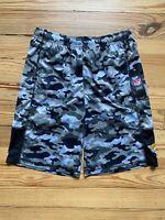Youth NFL Team Apparel Jacksonville Jaguars Black Camo Extra Yardage Shorts