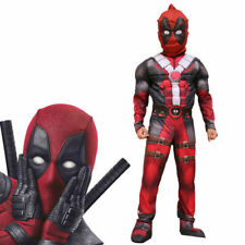 Deluxe Boys Marvel Deadpool Halloween Party Costume Children Muscle Movie