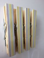 Magnetic Pegs - Pack of four - Yellow Stripes