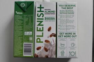 Plenish Organic Almond Vegan alternative to Milk 1L X 3 CHEAPEST UK FREE DELIVER