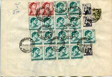 1967 Michelangiolesca Alti Valori 500 1000 lire su Piego Dogana Beni Sequestrati