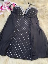 Nice black white padded underwired Camisole Top sleepwear size us36a  eu80a it4a