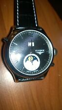 New Mens Elysee 76002 AUTOMATIC Black Leather Strap Watch