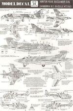 NEW Modeldecal 26 1:72 RAF Buccaneer - Hunter - Canberra - Gazelle