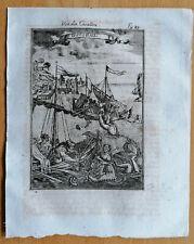 MALLET: Original Engraving Coral Fishing - 1718 (NS)