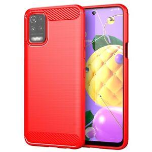 For LG K62 Case, Slim Shockproof Carbon Fiber Soft TPU Phone Cover