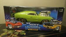 Muscle Machine 1969 Dodge Charger Hemi - Lime Green 1:18