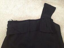 FARHI BY NICOLE FARHI £255 New Women's black one shoulder bow party dress, Uk10