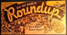 Starr Knight Cowboy 64-32 Ranch Roundup Board Game Complete 1952 Wales Games NY