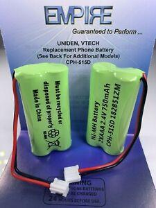 Paquete de 2 AT&T BT18433 2.4V 750mAh NiMH Batería para teléfono inalámbrico