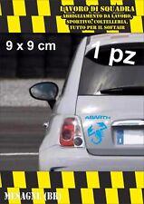 adesivo adesivi abarth stickers tuning scorpione auto fiat 500 moto BLU CIANO