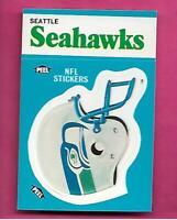 1987 FLEER SEATLES SEAHAWKS NFL FOOTBALL STICKERS  NRMT-MT CARD (INV# C3887)