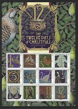 ISLE OF MAN 2017 12 DAYS OF CHRISTMAS SHEETLET OF 12 UNMOUNTED MINT