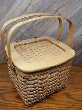 New ListingVintage Longaberger Weekender Basket 2 Handled 2 inserts Sewing ? Nice 2001
