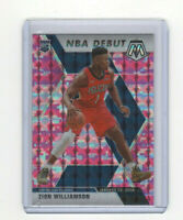 2019/20 Mosaic NBA Debut Pink Camo Zion Williamson Rookie Parallel Card #269 ROY