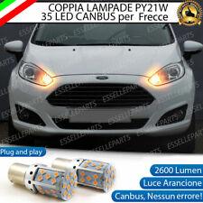 COPPIA LAMPADE PY21W CANBUS 35 LED FORD FIESTA MK6 FRECCE ANTERIORI NO ERROR