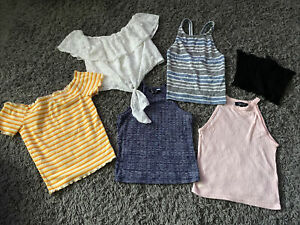 Bundle 6 Girls Newlook Tops. Age 10-11