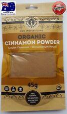 Certified Organic Ceylon (True) Cinnamon Powder 45g & Free Postage