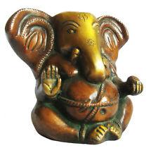 GANESH Lord Ganesha Statue Messing Ganapati Statuette Hindusimus H=11cm Indien