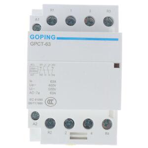 4P 63A 2NC 2NO 220V 400V~ 50/60HZ Din rail Household ac contactor H`USEXATHLWISH
