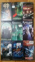 9 x VHS LOT SCIENCE FICTION FRANÇAIS FRENCH MATRIX, STAR WARS II, AVP, Etc.