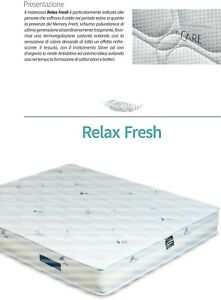 Materasso Relax Fresh in schiuma Memory Foam acquapur 24cm anallergico ortopedic