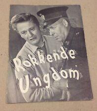 """""""Gylne Ungdom"""" Urda Arneberg Odd Borg Foss Old Danish Original Vtg Movie Program"""