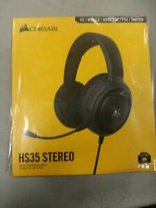 Corsair hs35 stereo gaming headset - carbon- new- PC/ mobile/Xbox/PS4/