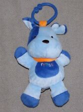 CHILD OF MINE STUFFED PLUSH MUSICAL BLUE DOG RING CLIP ON LINK TOY LIGHTS UP