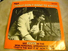 ELVIS PRESLEY-THERE GOES MY EVERYTHING / I REALLY DON'T WANT TO KNOW 45 w/Sleeve