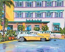 New South Beach Art Deco Original Art PAINTING DAN BYL Contemporary Modern 4x5ft