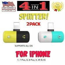 Dual Adapter for iPhone 2 in 1 Headphone & Charger for Apple iPhone -Cute Capsul