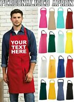Personalised Custom Printed Apron, Cooking Baking Chef Business Crafts Bib Apron
