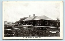 Saint-Jean, Quebec, Canada - RARE GTR TRAIN STATION DEPOT - SAINT JOHNS POSTCARD