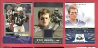 TOM BRADY GAME USED JERSEY CARD + 2004 DIE CUT +2006 INSERT NEW ENGLAND PATRIOTS