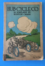 Rare Original 1914 - Hub Cycle Co Boston, Mass. Motorcycle Catalog vtg motorbike