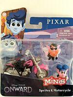Mattel 2020 Disney Pixar Onward Minis Sprites and Motorcycle Set - Brand New