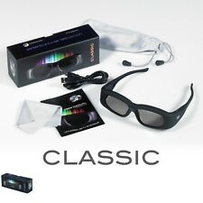 1 Pair Rechargeable 3D3 3D Active Shutter Glasses for Optoma DLP Link Projectors