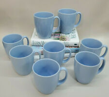 Corelle Country Cottage Light Poweder Blue Coffee Tea Cups Set of 8