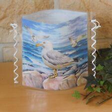 Tischlicht/Windlicht  - Möwe auf Felsen - Maritim