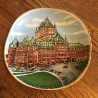 Vtg Quebec Souvenir mini plate Canada Gold trimmed Chateau Frontenac W Germany