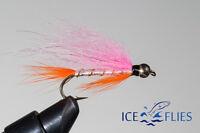 ICE FLIES. Streamer fly, Heimasaeta bead head. Size 2, - 10 (3-pack)