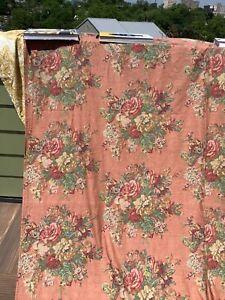 Vintage Rare Ralph Lauren MAURA Floral Flat Sheet Full