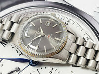 VINTAGE RICOH GRAY DIAL DAY DATE DYNAMIC WIDE AUTOMATIC GENTS RETRO 70S 2.