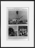 Vintage 1916 photograph of With the grand fleet: and women in a munition factory