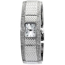 NEW! JLo by Jennifer Lopez JL/2497SVSV Silver Tone Crystal Women's Watch $150