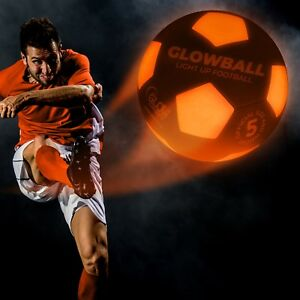 Light Up Football - GlowBall - LED, football, soccer, motion activated, night, a