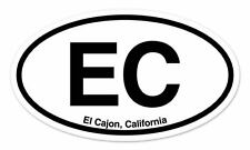 "EC El Cajon CA California Oval car window bumper sticker decal 5"" x 3"""