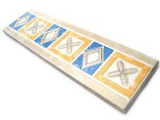 Fliesenbordüren 19,8x5,5 cm Badbordüre Fliesen Bordüren Fantasy blau gelb silber