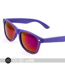 fb83d17ef7 Retro Purple Frame Party Sunglasses Fire Mirror Lens Glasses Case S005